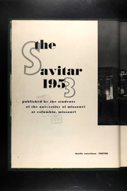 Page 6, 1953 Edition, University of Missouri - Savitar Yearbook (Columbia, MO) online yearbook collection