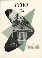 Page 7, 1959 Edition, Upland College - Echo Yearbook (Upland, CA) online yearbook collection