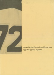 Upper Heyford American High School - Trident Yearbook (Upper Heyford, England) online yearbook collection, 1972 Edition, Page 3