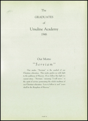 Ursuline Academy - Traces Yearbook (San Antonio, TX) online yearbook collection, 1948 Edition, Page 15