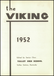 Page 7, 1952 Edition, Valley High School - Viking Yearbook (Valley Station, KY) online yearbook collection