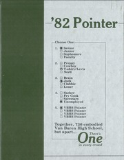 Van Buren High School - Pointer Yearbook (Van Buren, AR) online yearbook collection, 1982 Edition, Cover