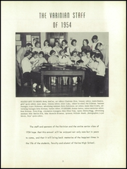 Page 7, 1954 Edition, Varina High School - Varinian Yearbook (Richmond, VA) online yearbook collection