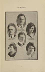 Page 9, 1924 Edition, Venice High School - Venetian Yearbook (Venice, IL) online yearbook collection