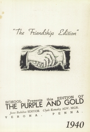 Page 7, 1940 Edition, Verona High School - Purple and Gold Yearbook (Verona, PA) online yearbook collection