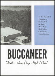 Walter Hines Page High School - Buccaneer Yearbook (Greensboro, NC) online yearbook collection, 1959 Edition, Page 7