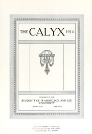 Washington and Lee University - Calyx Yearbook (Lexington, VA) online yearbook collection, 1914 Edition, Page 9 of 322