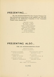 West Virginia Wesleyan College - Murmurmontis Yearbook (Buckhannon, WV) online yearbook collection, 1955 Edition, Page 7