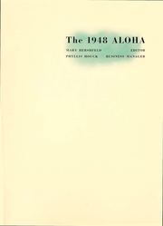 Western Maryland College - Aloha Yearbook (Westminster, MD) online yearbook collection, 1948 Edition, Page 2