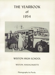 Weston High School - Key Yearbook (Weston, MA) online yearbook collection, 1954 Edition, Page 3