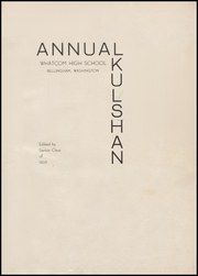 Whatcom High School - Kulshan Yearbook (Bellingham, WA) online yearbook collection, 1935 Edition, Page 5