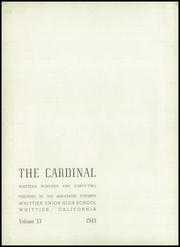 Whittier Union High School - Cardinal Yearbook (Whittier, CA) online yearbook collection, 1943 Edition, Page 6