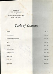 Wichita Falls High School - Coyote Yearbook (Wichita Falls, TX) online yearbook collection, 1963 Edition, Page 5 of 278