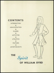 William Byrd High School - Black Swan Yearbook (Vinton, VA) online yearbook collection, 1957 Edition, Page 5