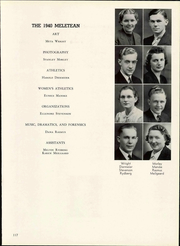Wisconsin State Teachers College - Meletean Yearbook (River Falls, WI) online yearbook collection, 1940 Edition, Page 123