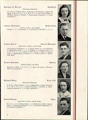 Wisconsin State Teachers College - Meletean Yearbook (River Falls, WI) online yearbook collection, 1940 Edition, Page 37 of 196