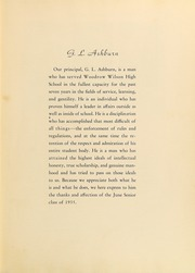 Woodrow Wilson High School - Crusader Yearbook (Dallas, TX) online yearbook collection, 1935 Edition, Page 15