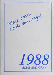 1988 Edition, Washington Lee High School - Blue and Gray Yearbook (Arlington, VA)