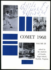 Page 5, 1968 Edition, Granby High School - Yearbook (Norfolk, VA) online yearbook collection