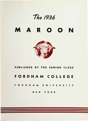 Page 9, 1936 Edition, Fordham University - Maroon Yearbook (New York, NY) online yearbook collection