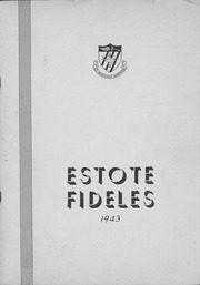 1943 Edition, St Boniface School of Nursing - Estole Fideles Yearbook (St Boniface, Manitoba Canada)
