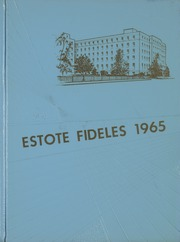 1965 Edition, St Boniface School of Nursing - Estole Fideles Yearbook (St Boniface, Manitoba Canada)