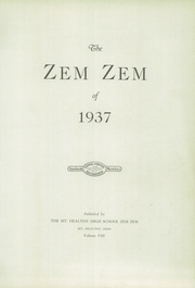 Page 5, 1937 Edition, Mount Healthy High School - Zem Zem Yearbook (Cincinnati, OH) online yearbook collection