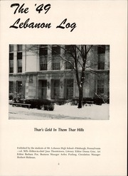Page 7, 1949 Edition, Mount Lebanon High School - Lebanon Log Yearbook (Pittsburgh, PA) online yearbook collection