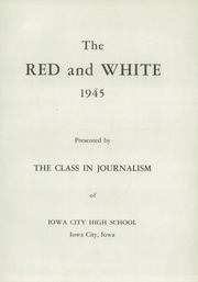 Page 7, 1945 Edition, Iowa City High School - Red and White Yearbook (Iowa City, IA) online yearbook collection