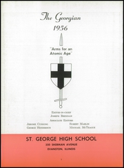 Page 6, 1956 Edition, Saint George High School - Georgian Yearbook (Evanston, IL) online yearbook collection