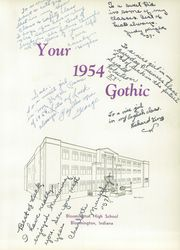 Page 7, 1954 Edition, Bloomington High School - Gothic Yearbook (Bloomington, IN) online yearbook collection