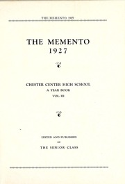 Page 7, 1927 Edition, Chester Center High School - Memento Yearbook (Keystone, IN) online yearbook collection