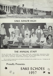 Page 5, 1957 Edition, Saks High School - Saks Echoes Yearbook (Anniston, AL) online yearbook collection