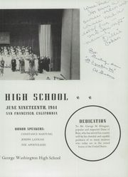 Page 9, 1944 Edition, George Washington High School - Surveyor Yearbook (San Francisco, CA) online yearbook collection