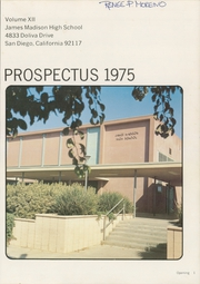 Page 5, 1975 Edition, James Madison High School - Prospectus Yearbook (San Diego, CA) online yearbook collection