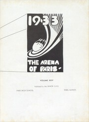 Page 9, 1933 Edition, Paris High School - Arena Yearbook (Paris, IL) online yearbook collection