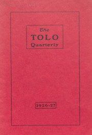 Toulon Township High School - Tolo Yearbook (Toulon, IL) online yearbook collection, 1927 Edition, Page 1