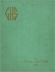 1942 Edition, Greensburg High School - Green and Gold Yearbook (Greensburg, KY)