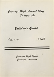 Page 5, 1963 Edition, Jennings High School - Bulldogs Growl Yearbook (Jennings, LA) online yearbook collection