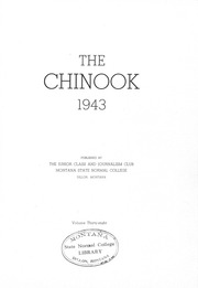 Page 5, 1943 Edition, University of Montana Western - Chinook Yearbook (Dillon, MT) online yearbook collection