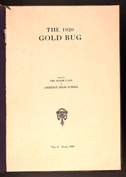 Page 3, 1920 Edition, Amherst Regional High School - Goldbug Yearbook (Amherst, MA) online yearbook collection