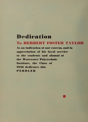 Page 10, 1936 Edition, Worcester Polytechnic Institute - Peddler Yearbook (Worcester, MA) online yearbook collection
