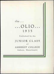 Page 11, 1935 Edition, Amherst College - Olio Yearbook (Amherst, MA) online yearbook collection