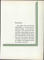 Page 13, 1935 Edition, Amherst College - Olio Yearbook (Amherst, MA) online yearbook collection