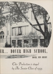 Page 7, 1953 Edition, Dover High School - Tiger Yearbook (Dover, NJ) online yearbook collection