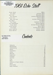 Page 6, 1961 Edition, Boyden High School - Echo Yearbook (Salisbury, NC) online yearbook collection