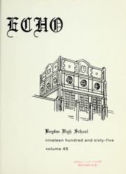 Page 5, 1965 Edition, Boyden High School - Echo Yearbook (Salisbury, NC) online yearbook collection