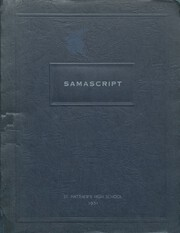 St Matthews High School - Samascript Yearbook (Conshohocken, PA) online yearbook collection, 1951 Edition, Page 1